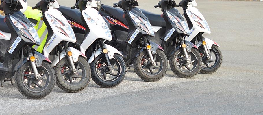 Mopeder på rad